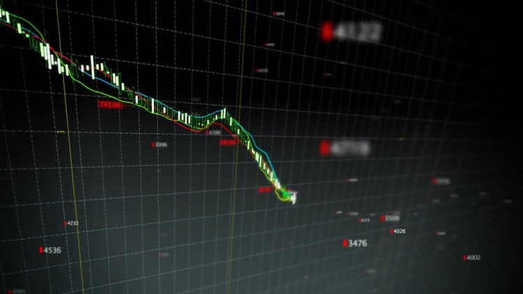 Falling Stock Index Loop: Stock Motion Graphics