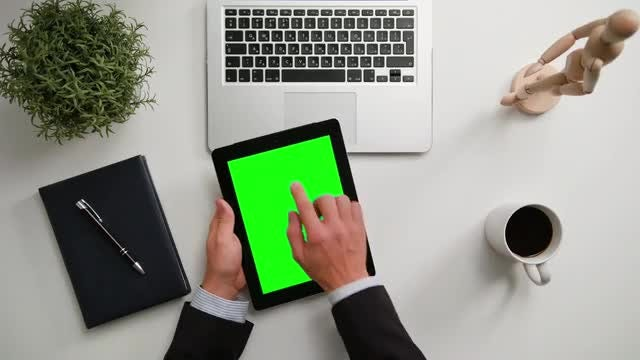 Hands Holding An iPad: Stock Video