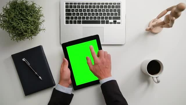 Hands Holding iPad: Stock Video