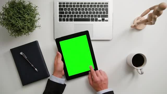Man Using A Tablet: Stock Video