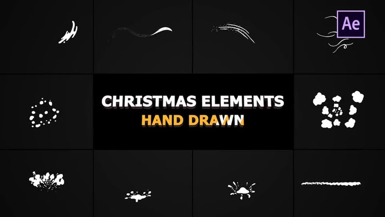 Christmas Elements: After Effects Templates
