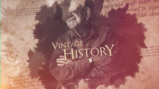 Vintage History: After Effects Templates