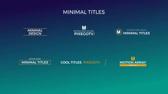 30 Motion Titles Pack: After Effects Templates