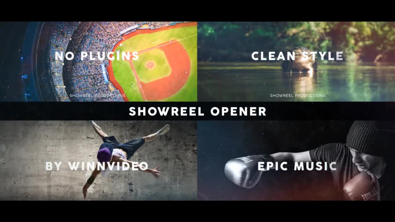 Showreel Opener After Effects Templates 57595 - Free download