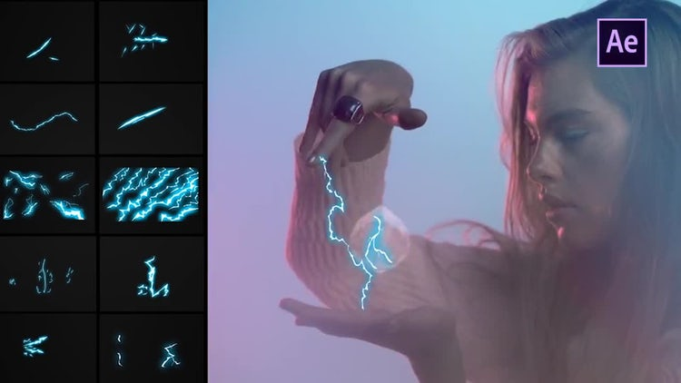 Flash FX Lightning Elements: After Effects Templates
