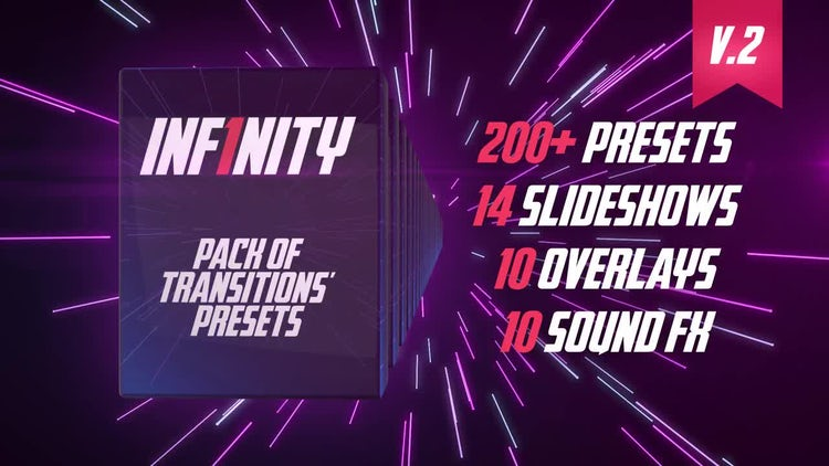 Inf1nity. Pack Of Transitions' Presets: Premiere Pro Templates