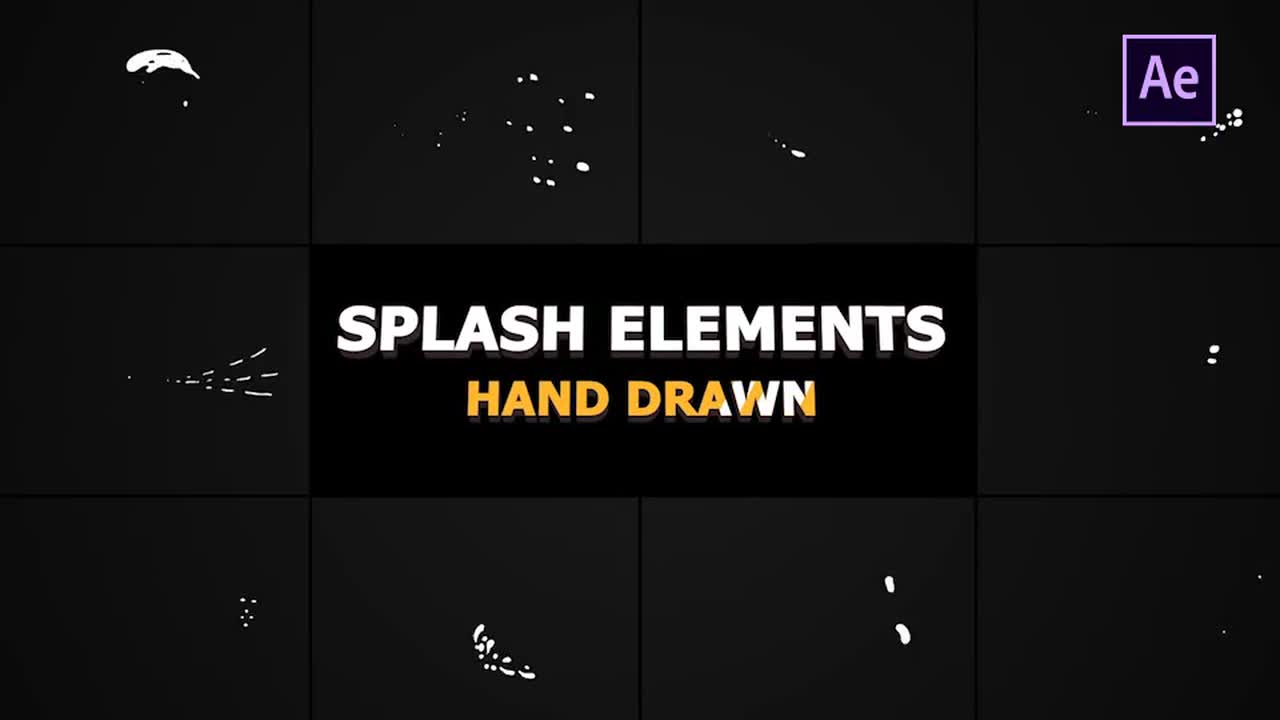 Splash Animated Elements - After Effects Templates   Motion