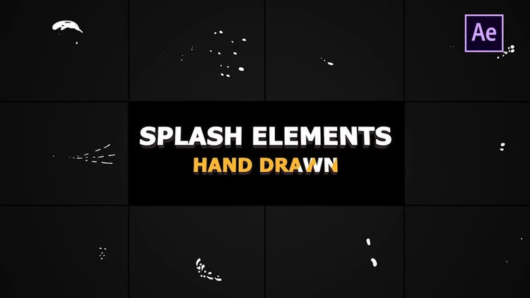 Splash Animated Elements: After Effects Templates
