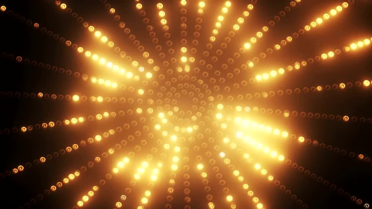 Gold Circle LED: Stock Motion Graphics
