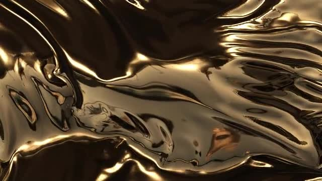 Animation Of Gold Waves: Stock Motion Graphics