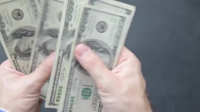 Counting Dollars: Stock Video