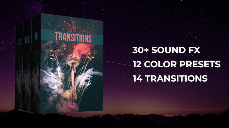 50+ Pack: Transitions, Color Presets, Sound Fx: Premiere Pro Templates