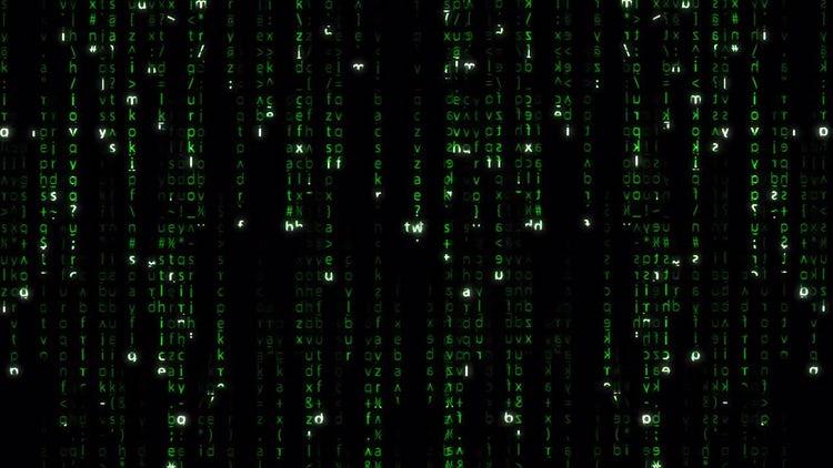 Falling Green Matrix Code: Motion Graphics