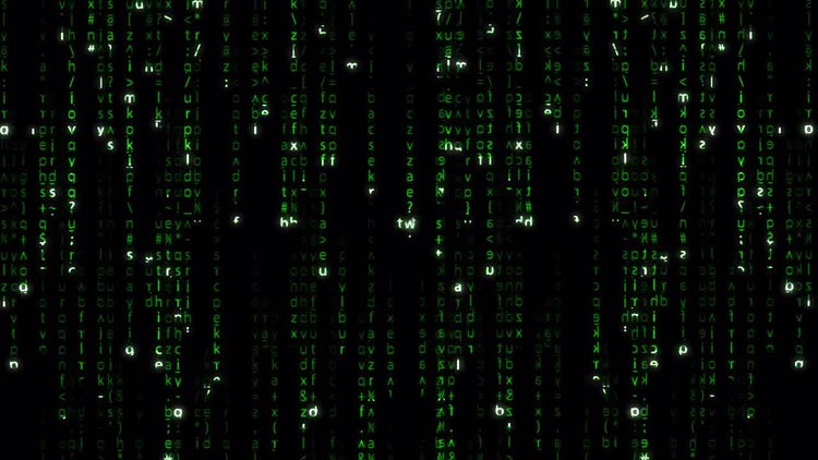 Falling Green Matrix Code: Stock Motion Graphics