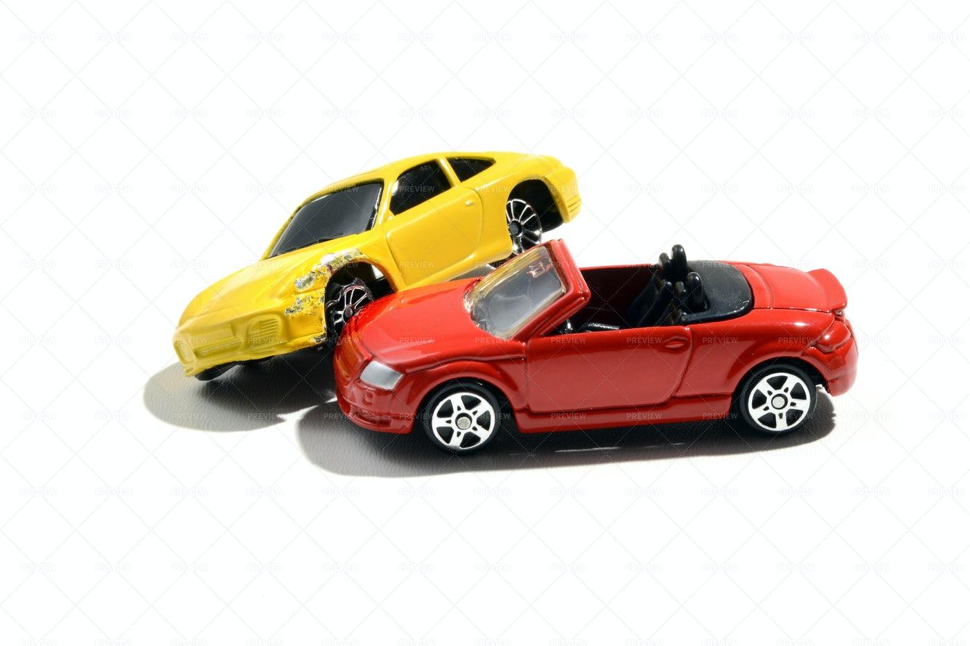 Crashed Toy Cars: Stock Photos