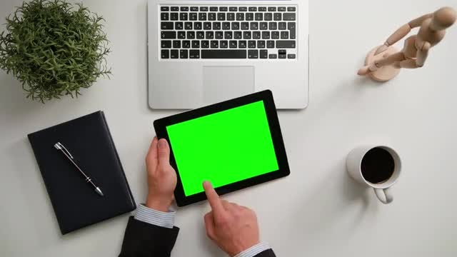 A Man's Hands Holding iPad: Stock Video