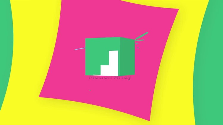 3d Cube Minimal Logo: After Effects Templates