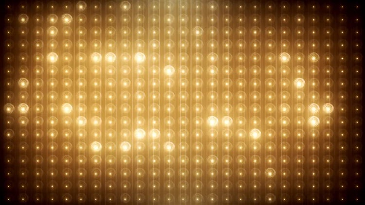 Gold Glitter Led Background: Stock Motion Graphics