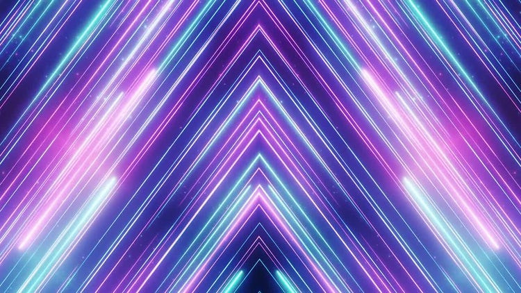 Neon Abstract Line Animation: Motion Graphics