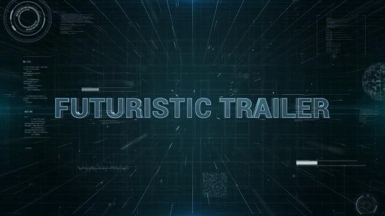 Futuristic Trailer: After Effects Templates