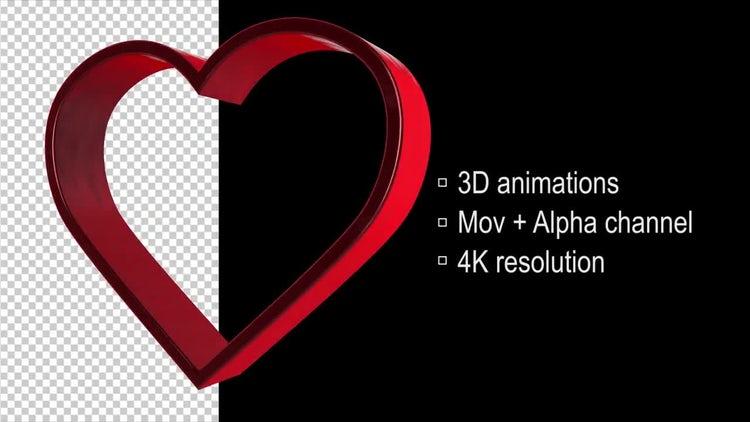 Rotating Heart: Motion Graphics