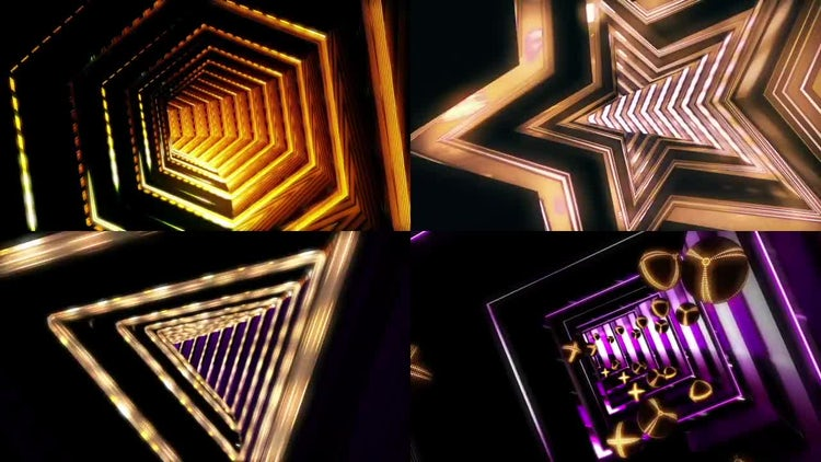 VJ Tunnels: Stock Motion Graphics