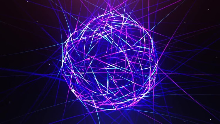 Abstract Neon Ball: Stock Motion Graphics
