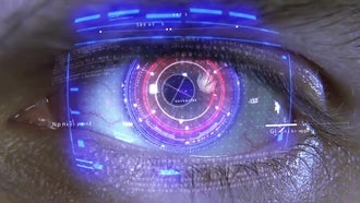 Eye With Holograms: Motion Graphics