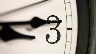 White wall clock: Stock Footage
