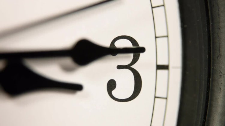 White wall clock: Stock Video
