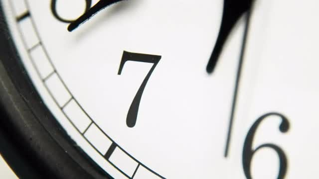 White Wall Clock: Stock Video