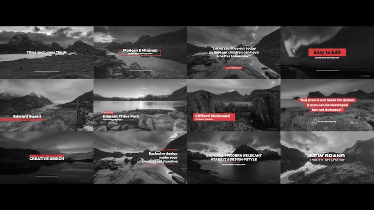 Titles And Lower Thirds: Premiere Pro Templates
