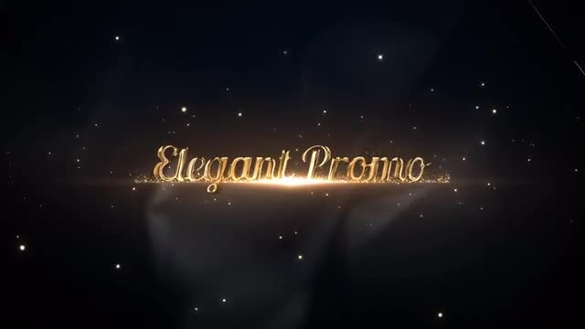 Elegant Gold Titles: After Effects Templates