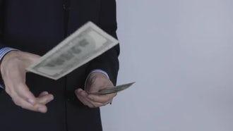 Businessman Throwing Money: Stock Video