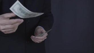 Businessman Throws Money: Stock Video