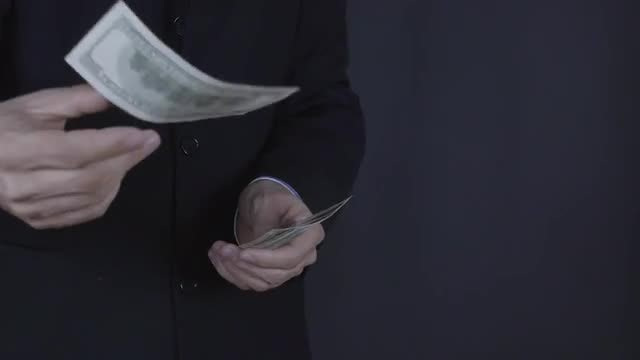 Businessman Throws Money: Stock Video