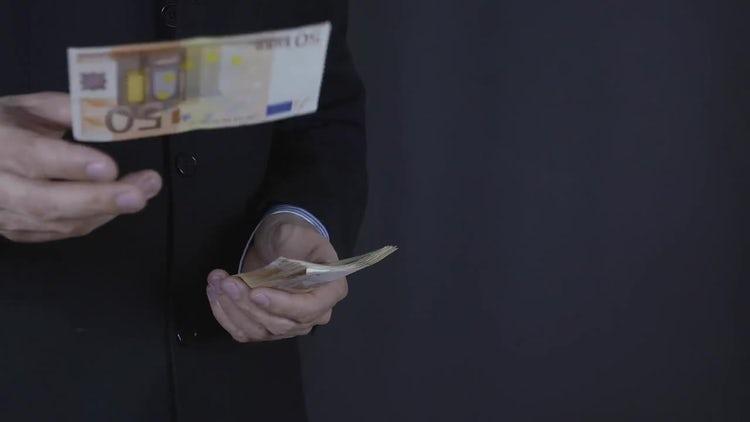 Throwing Euros: Stock Video