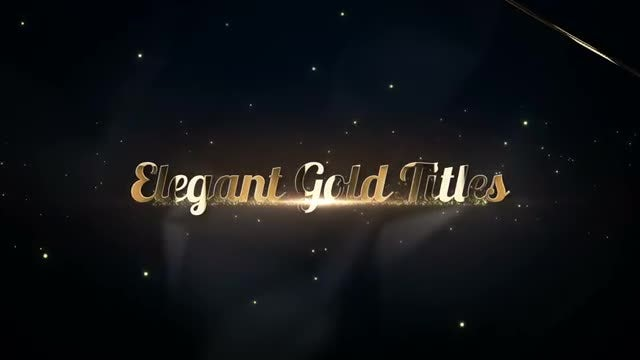 Elegant Gold Titles: Premiere Pro Templates