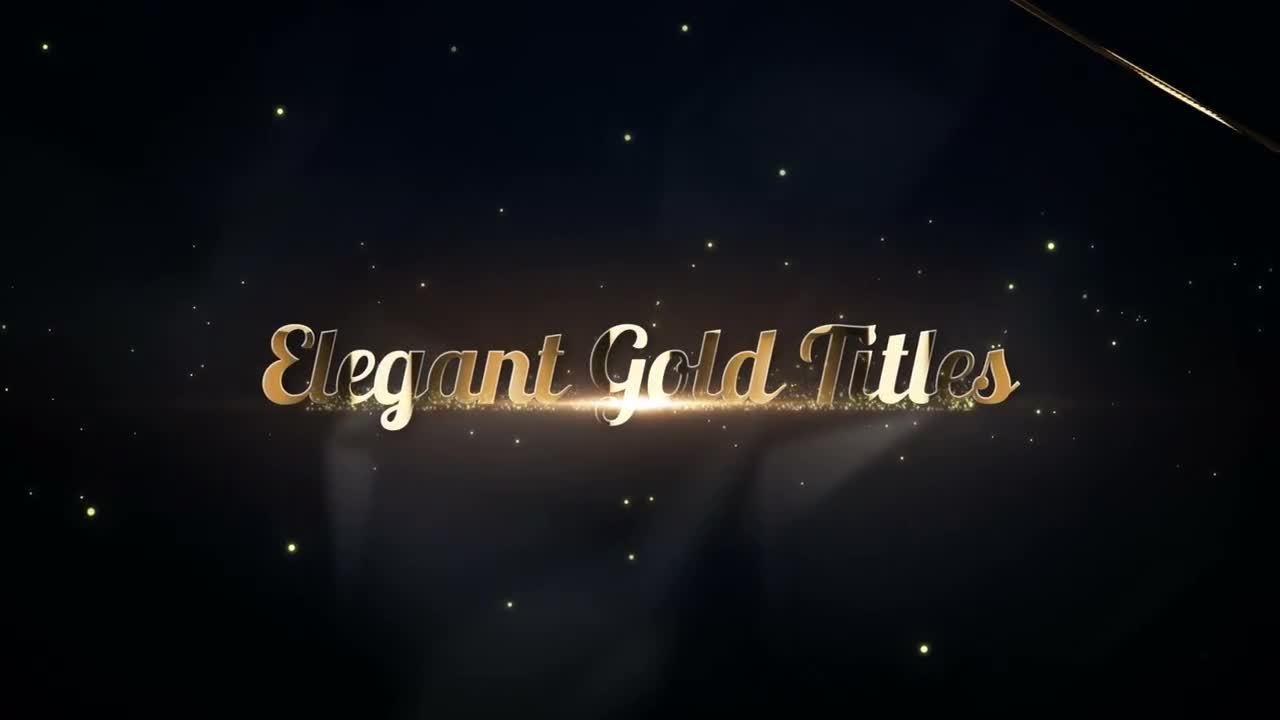 Elegant Gold Titles Premiere Pro Templates 57895