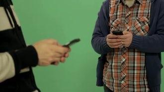 Men Using Phones: Stock Video