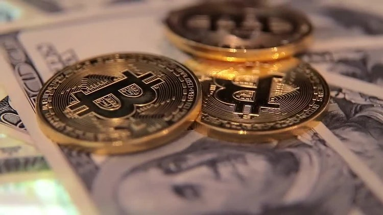 Bitcoins And Dollars: Stock Video