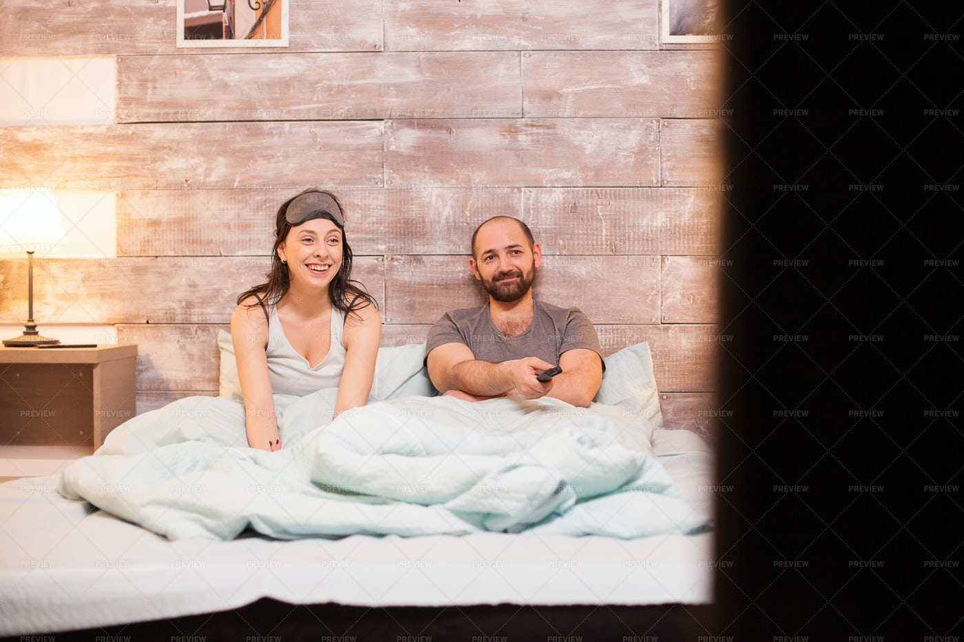 Couple Watching A Movie: Stock Photos