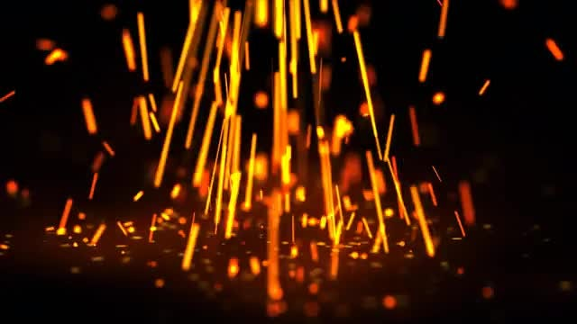 Falling Sparks: Stock Video