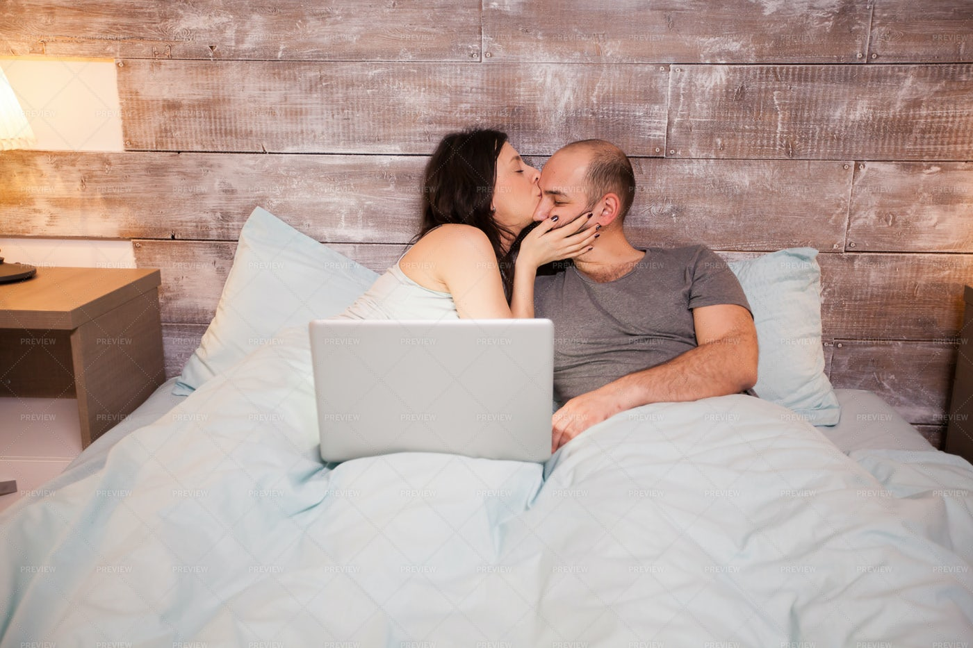 Wife Kissing Her Husband: Stock Photos