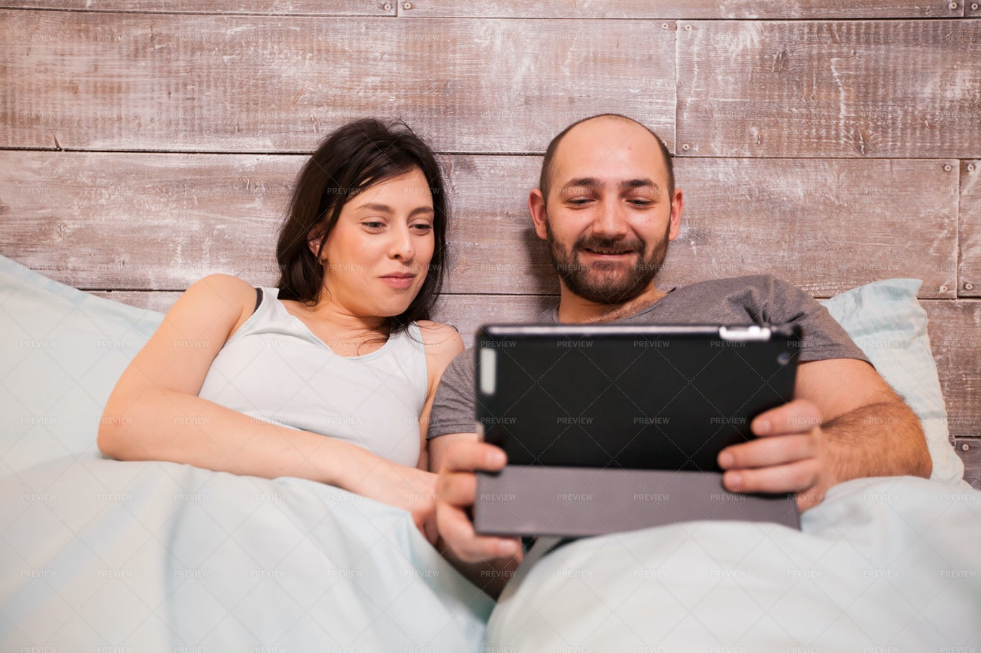 Watching A Show On Tablet: Stock Photos