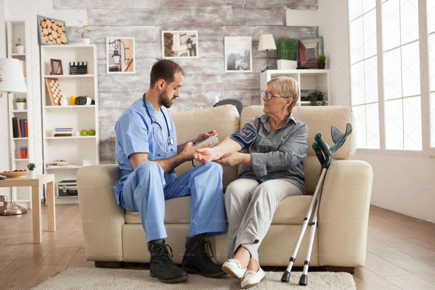 Checking Blood Pressure: Stock Photos