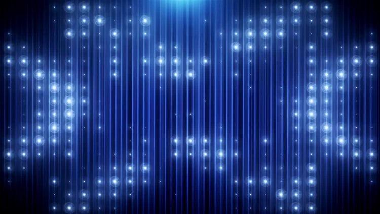 Blue Glitter Led Loop: Motion Graphics