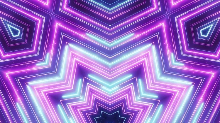 Neon Abstract Lines: Stock Motion Graphics