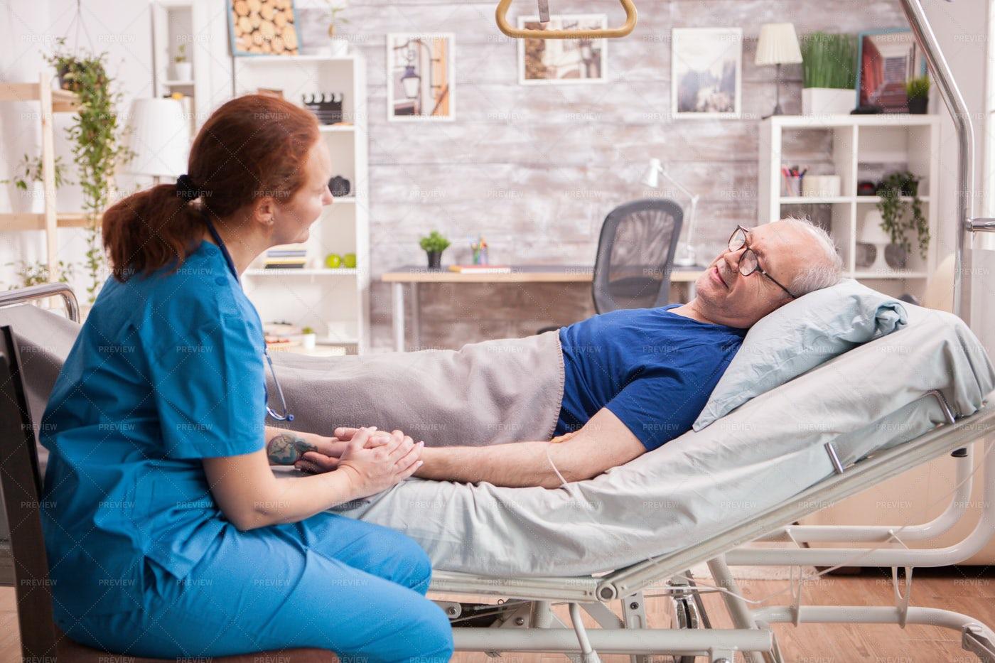 Taking Care Of Senior Man: Stock Photos