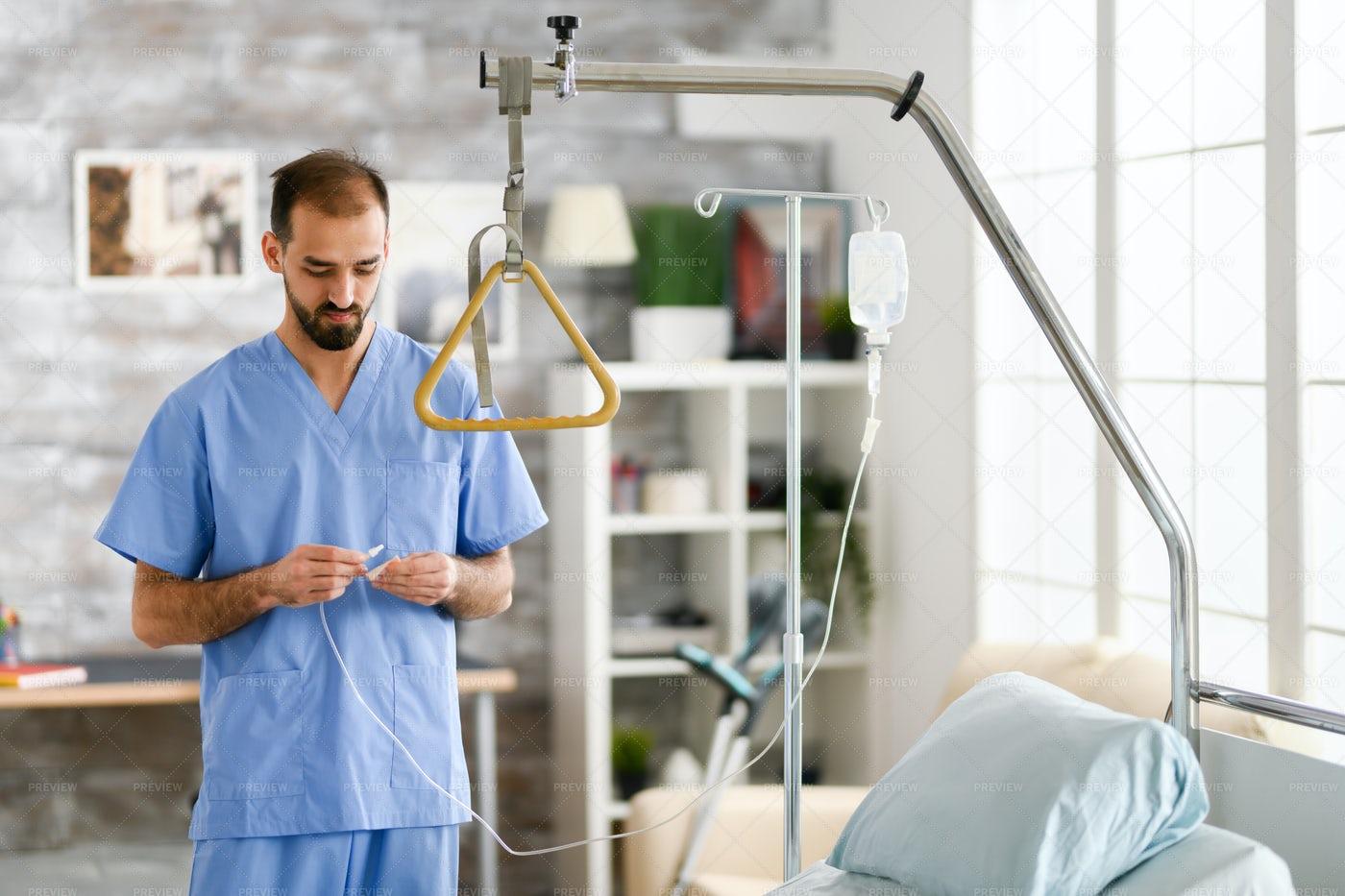 Doctor In Nursing Home: Stock Photos